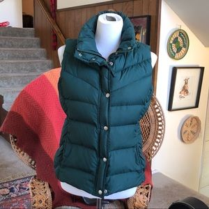 J. Crew Forest Green Sleeveless Down Vest